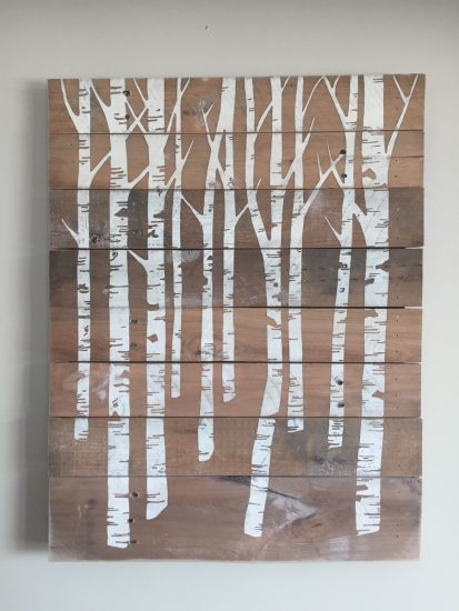 birch trees - twisted spiral