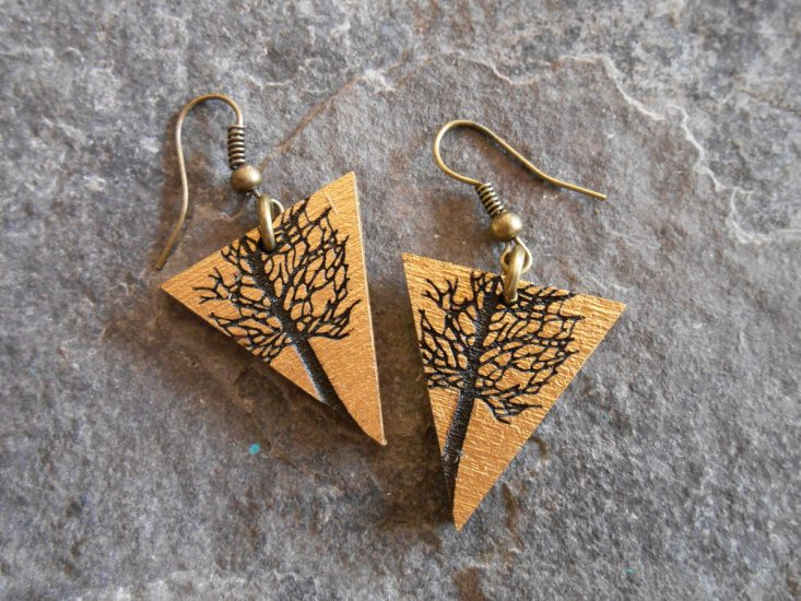 tree earrings - twisted spiral